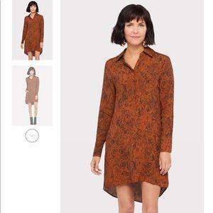 Peyton Jensen- Snake Skin Shirt Dress